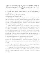 THỰC TRẠNG CÔNG TÁC QUẢN LÝ DỰ ÁN TẠI CÔNG TY TNHH MỘT THÀNH VIÊN CÔNG NGHIỆP TÀU THUỶ CÁI LÂN