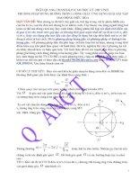 Phương pháp dùng đường tròn lượng giác ứng dụng giải bài tập dao động điều hòa