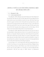 CƠ SỞ LÝ LUẬN VỀ HỆ THỐNG CHI PHÍ DỰA TRÊN MỨC ĐỘ HOẠT ĐÔNG