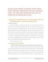 BÀI HỌC KINH NGHIỆM VÀ PHƯƠNG HƯỚNG NHẰM  HOÀN THIỆN QUY TRÌNH KIỂM TOÁN CHU TRÌNH BÁN HÀNG  THU TIỀN TRONG KIỂM TOÁN BÁO CÁO TÀI CHÍNH TẠI CHI NHÁNH AISC HÀ NỘI