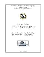 Bài tập lớn công nghệ CNC