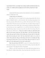GIẢI PHÁP NÂNG CAO HIỆU QUẢ HOẠT ĐỘNG KINH DOANH CỦA CÔNG TY TNHH CHỨNG KHOÁN NGÂN HÀNG NO