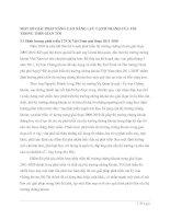 MỘT SỐ GIẢI PHÁP NÂNG CAO NĂNG LỰC CẠNH TRANH CỦA TSS TRONG THỜI GIAN TỚI