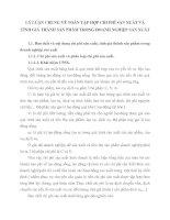 LÝ LUẬN CHUNG VÊ TOÁN TẬP HỢP CHI PHÍ SẢN XUẤT VÀ TÍNH GIÁ THÀNH SẢN PHÂM TRONG DOANH NGHIỆP SẢN XUẤT