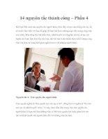 14 nguyên tắc thành công – Phần 4