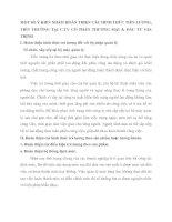 MỘT SỐ Ý KIẾN NHẰM HOÀN THIỆN CÁC HÌNH THỨC TIỀN LƯƠNG, TIỀN THƯỞNG TẠI C.TY CỔ PHẦN THƯƠNG MẠI & ĐẦU TƯ GIA TRỊNH