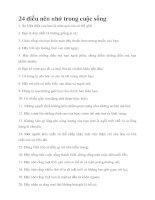 Bài giảng 24 điều cần thiết cho cuộc sống