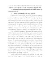 GIẢI PHÁP VÀ KIẾN NGHỊ NHẰM NÂNG CAO CHẤT LƯỢNG CHO VAY ĐỐI VỚI CÁC DOANH NGHIỆP TẠI NHNT HÀ NỘI