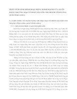 PHÂN TÍCH TÌNH HÌNH HOẠT ĐỘNG KINH DOANH CỦA NGÂN HÀNG THƯƠNG MẠI CỔ PHẦN SÀI GÒN CHI NHÁNH VĨNH LONG