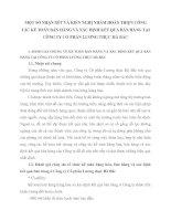 MỘT SỐ NHẬN XÉT VÀ KIẾN NGHỊ NHẰM HOÀN THIỆN CÔNG TÁC KẾ TOÁN BÁN HÀNG VÀ XÁC ĐỊNH KẾT QUẢ BÁN HÀNG TẠI CÔNG TY CỔ PHẦN LƯƠNG THỰC HÀ BẮC