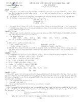 Đề thi HSG 06-07