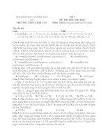 Đề thi thử đại học môn hóa học - đề 4
