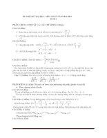 Đề thi thử đại học môn toán - đề 3