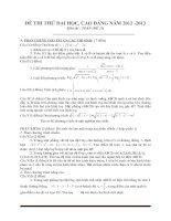 Đề thi thử đại học môn toán - đề 7