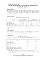 Đề thi  HSG lớp 10