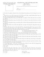 kiểm tra 1 tiết lí 9 (tiết 19-tuần 10)
