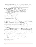 Đề thi thử đại học môn toán - đề 8