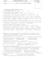 Kiểm tra 1 tiết chương 1