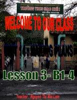 grade 6 : Unit 14- lesson 3: B1-4