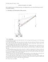 Thiết kế cần trục tháp bánh lốp truyền động thủy lực sức nần Q=40 tấn,lấy mẫu ở cảng KHÁNH HỘI