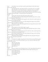 Đề trắc nghiệm của sở GD và ĐT Tỉnh Thừa Thiên Huế - qua trinh hinh thanh cac dac diem thich nghi(có Đ/Á)