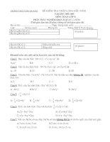 Đề kiểm tra chất lượng đầu năm toán 8