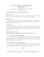 Đề thi thử đại học môn lịch sử - đề 12