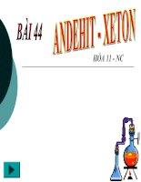 bai 44: Andehit-xeton