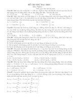 Bộ đề thi thử ĐH môn Vật lý-hay
