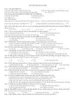 Trắc nghiệm Vật lý 12
