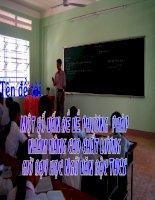 Một số vấn đề về phương pháp nhằm nâng cao chất lượng dạy học văn