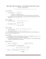 Đề thi thử đại học môn toán - đề 14