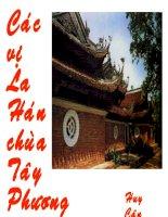 Các vị La Hán chùa Tây Phương
