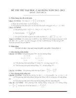 Đề thi thử đại học môn toán - đề 5