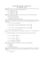 Đề thi thử đại học môn vật lý - đề 18