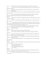 Đề trắc nghiệm của sở GD và ĐT Tỉnh Thừa Thiên Huế - nguon goc chung va chieu huong tien hoa cua sinh gioi(có Đ/Á)