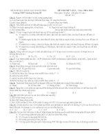 Đề thi thử đại học môn sinh học - đề 12