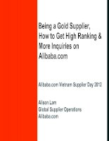 VN Supplier Day 2012_How to get High Ranking & More Inquiries