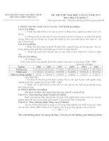 Đề thi thử đại học môn địa lý - đề 12