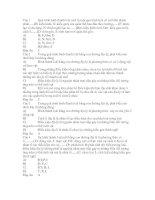 Đề trắc nghiệm của sở GD và ĐT Tỉnh Thừa Thiên Huế - qua trinh hinh thanh loai moi(có Đ/Á)