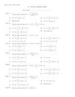 bài tập hàm số lượng giác