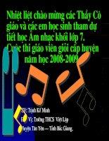 Âm nhạc 7 tiết 22