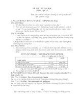 Đề thi thử đại học môn địa lý - đề 4