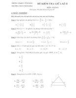 Đề & đáp án Kiểm tra giữa kì II