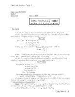 Tự Chọn Lý 9 Chủ đề 2