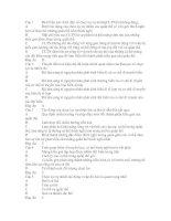 Đề trắc nghiệm của sở GD và ĐT Tỉnh Thừa Thiên Huế - qua trinh chon loc tu nhien(có Đ/Á)