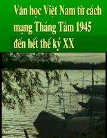 van hoc viet nam tu 1945 den het the ky XX