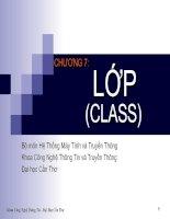 Slide bài giảng lập trình hướng đối tượng C++ (chương 7)