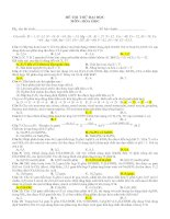 Đề thi thử đại học môn hóa học - đề 19