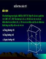 Bài tập: Vectơ trong không gian